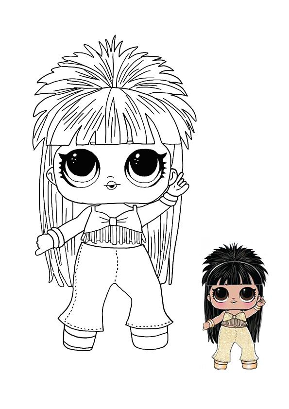 Lol Surprise Hairvibes Disco Queen Coloring Page Coloring Pages Star Coloring Pages Baby Coloring Pages