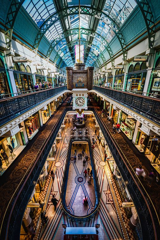 Shopping in the Queen Victoria Building, Sydney Australia