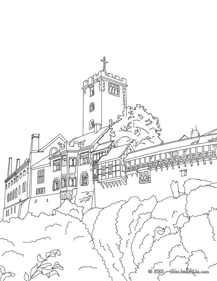 48 best Castle Coloring Pages images on Pinterest Coloring sheets