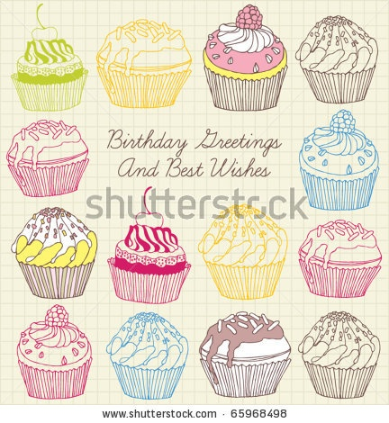 stock vector : cake card