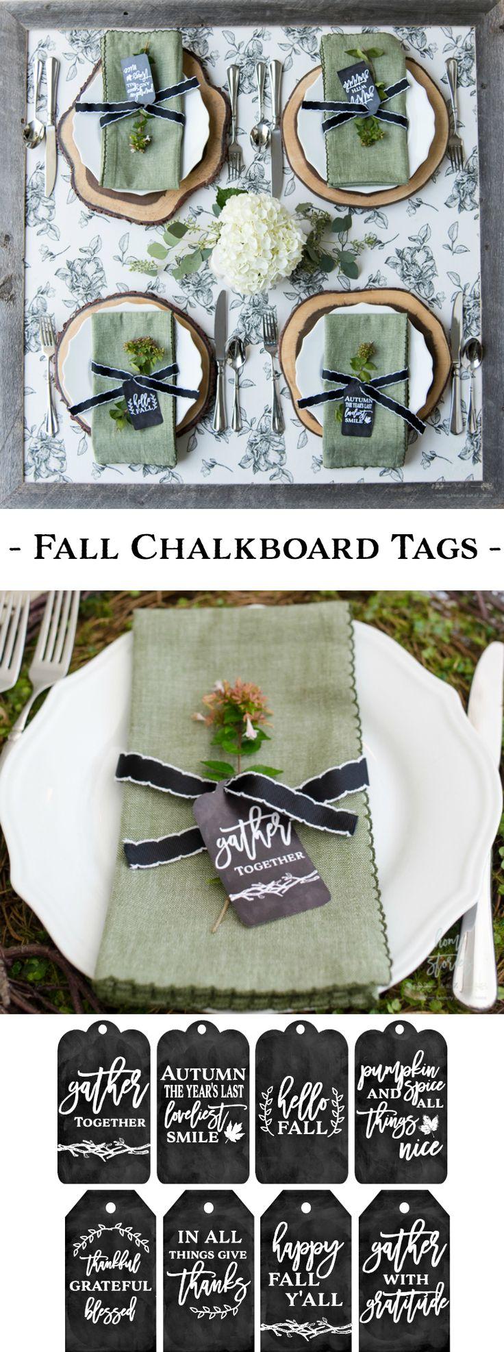 fall chalkboard tags free printable