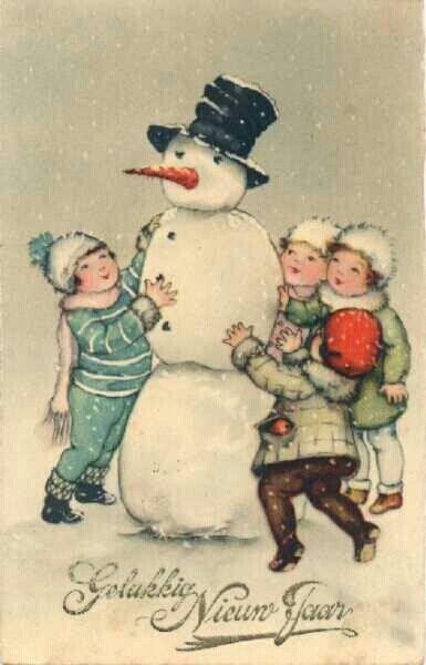 vintage snowman clipart - photo #25