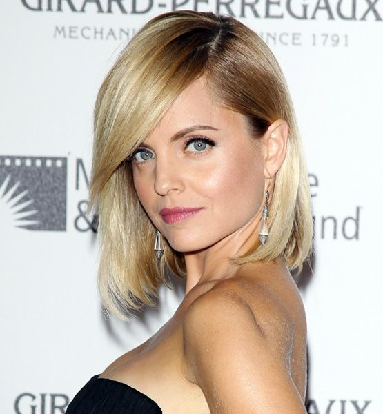 Stars bring back the bob—the long and short of it: Fashion, Hair Styles, Celebrity Hairstyles, Mena Suvari, Makeup, Hair Beauty, Side Swept Bangs, Sideswept Bangs, Sexy Hairstyles
