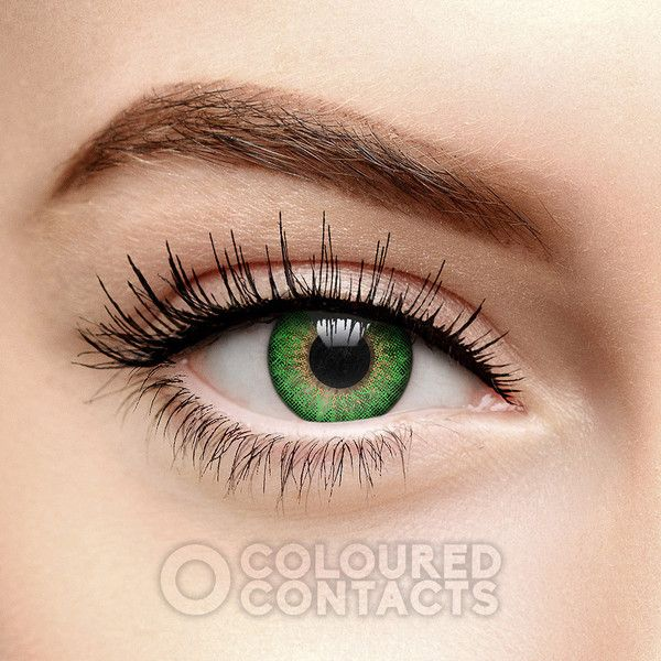 Tri Tone Green Prescription Contact Lenses, Coloured Contacts UK ($25) ❤ liked on Polyvore featuring accessories, eyewear, sunglasses, green glasses, green lens sunglasses, lens sunglasses, lens glasses and green sunglasses