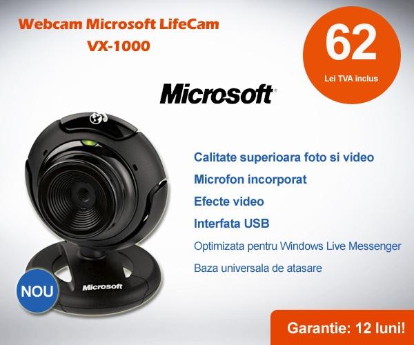 Rezolutie: 640 x 480 pixeli Interfata: USB Microfon Incorporat Baza Universala de Atasare 30 de Cadre pe Secunda Dimensiuni: 55.5 x 68.8 x 68.8 mm Greutate: 95.3g