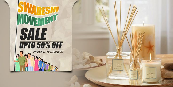 Swadeshi Movement Sale - Check out the home #fragrances at #Pepperfry. Get up to 50% OFF + Free Shipping!