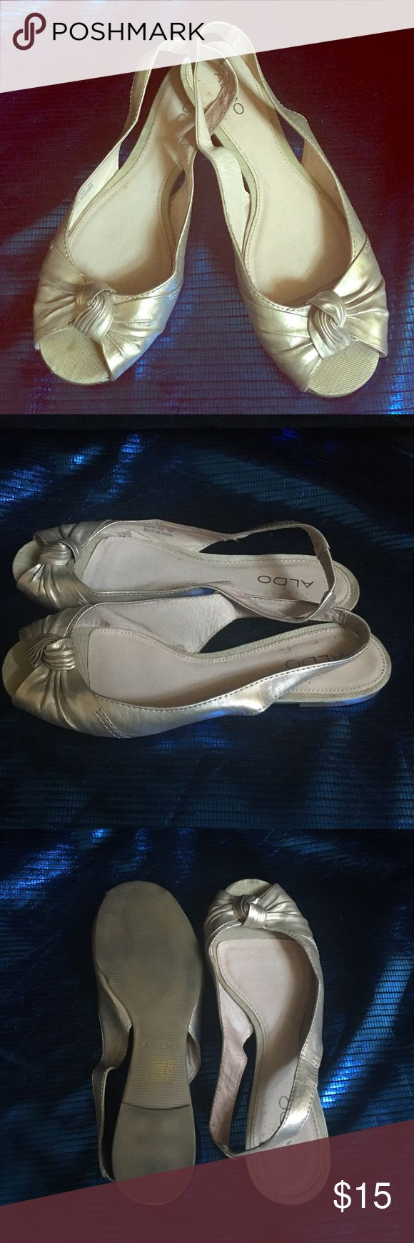 Aldo slingback open toe flats. Open toe slingback flats. Super cute and comfy.I've tried to wear them a few times,but they do not fit my feet:(.Accepting all reasonable offers. ;) aldo Shoes Flats & Loafers