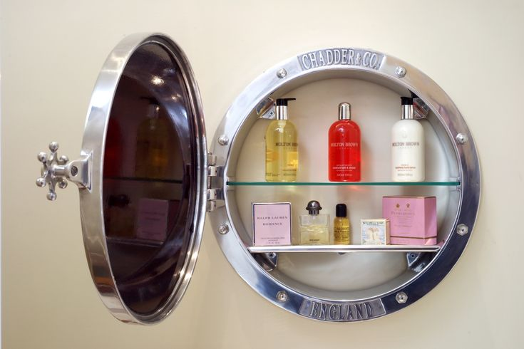 Chadder Porthole Surface Mirror Cabinet with in Polished Metal finish…