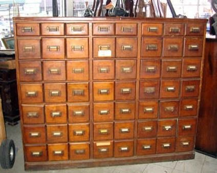 Delightful Large Apothecary Cabinet | 300Antique 56 Draw Oak Apothecary Or Store  Cabinet In Hempstead .