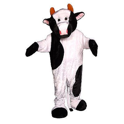 Men Costumes: White And Black Adult'S Cow Mascot Costume By Dress Up America BUY IT NOW ONLY: $89.99