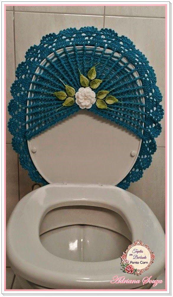 Tapetes em Barbante Ponto Com: Novo jogo de banheiro
