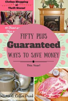 These tips really will save you TONS of money this year! I know...I've been doing it for years. Stay on budget and DO these 50 or more Guaranteed Ways to Save Money This Year! save money on food frugal meal ideas, meal planning tips and budget recipes!