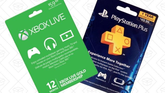 Add a Year to Your PlayStation Plus or Xbox Live Gold Membership For $40