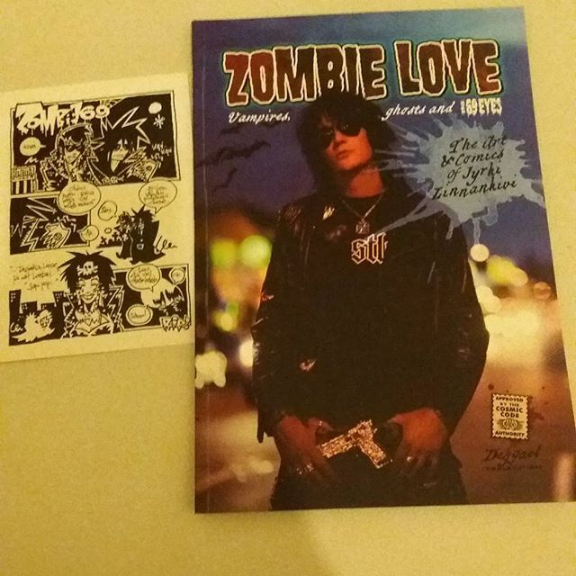 Look what we've bought with @golden_psycho 😜 #comics #art #zombielove #jyrki69 #jyrkilinnankivi #gothnroll #the69eyes #ghosts #vampires #helsinkivampires #gottalovethis #cantwaitforthehalloween @jyrki69