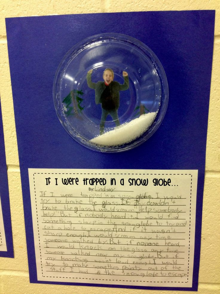 Writing Prompt (Trapped in a snow globe) What a cute idea for winter!