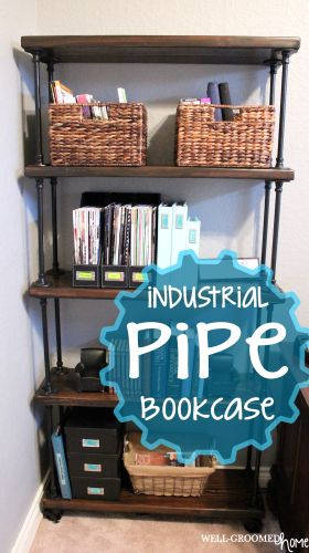 industrial pipe shelves - Love these!