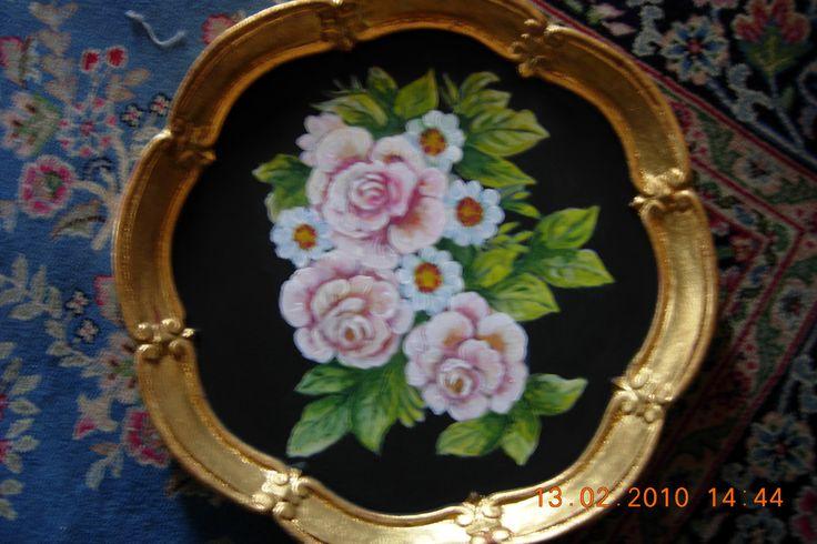 vassoio dipinto acrilico