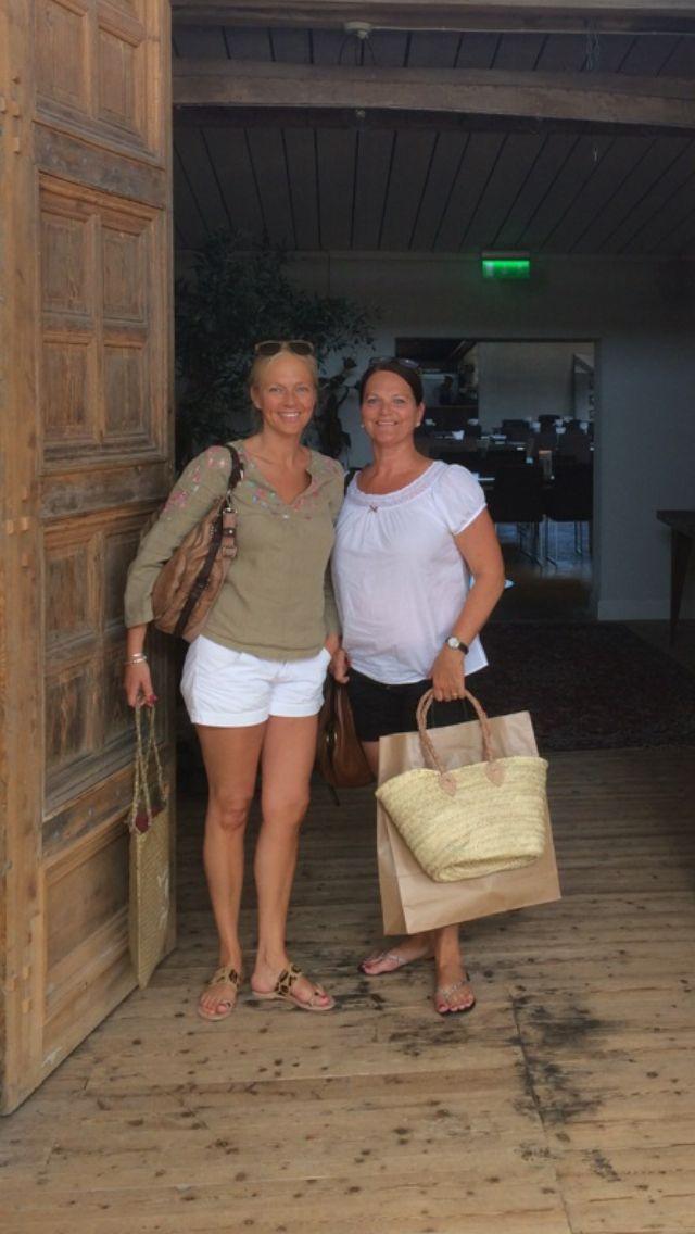 Fina Carina & jag på besök i Höganäs sommaren 2014