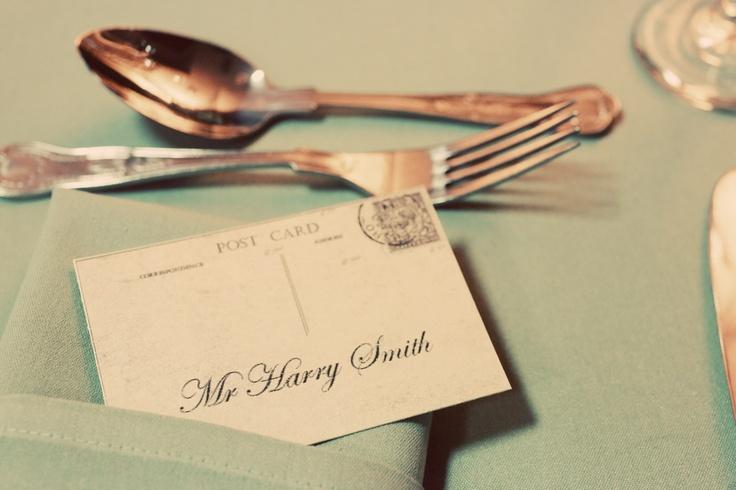 postcard travel theme wedding place card http://www.whitecrafts.com/index.html