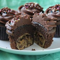 "Chocolate Chip Cookie Dough + Cupcake = The BEST Cupcake. Ever. | ""I ..."