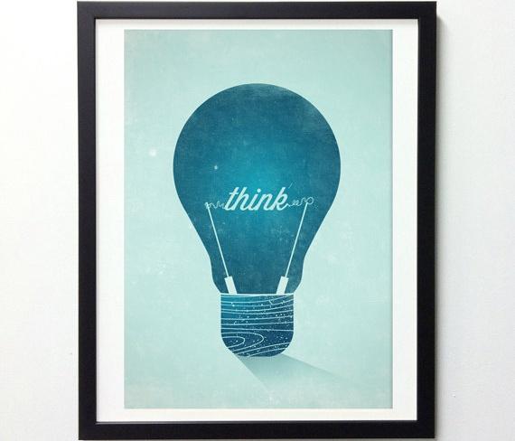 Think Wall Print