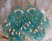 Semi di orecchini di perla Beadwoven - alzavola - COPYRIGHT 2014 - Patti Ann McAlister.