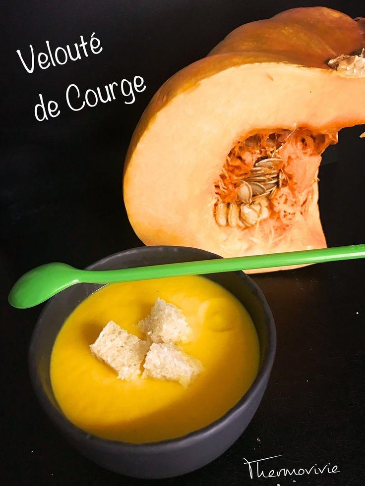 Velouté de courge citrouille ou Potimarron, recette au thermomix (TM5)