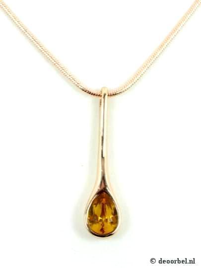 Rose gold kleur halsketting met metalen hanger, De mooiste oorbellen koop je bij Deoorbel. De oorbellen internetwinkel... Sieraden, oorclips en oorbellen webshop., sieraad: 10577 voor maar 7,95