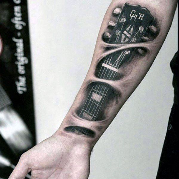 100 Music Tattoos For Men – Manly Designs With Harmony