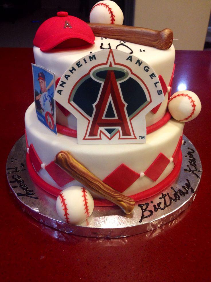 Anaheim Angels cake, happy birthday Kevin!
