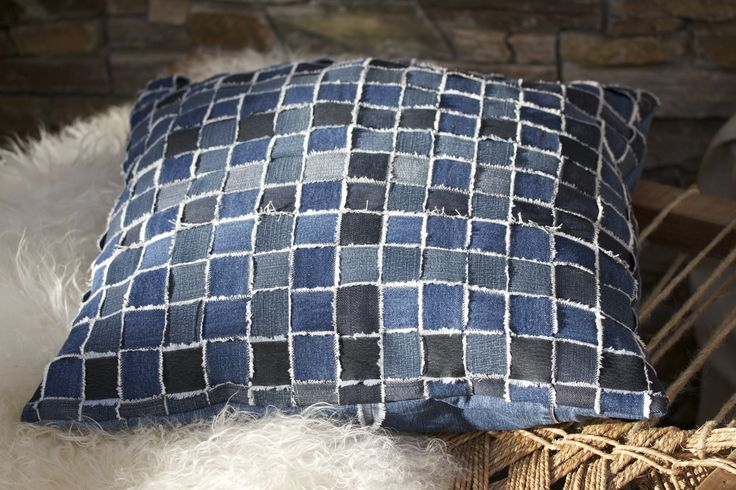 Cushion made out of old jeans