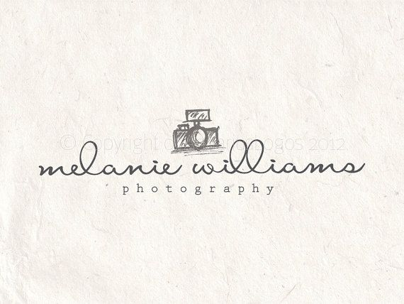 Premade photography logo design and photography logo watermark using a camera on Etsy, $25.00