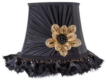 All Lit Up Black Tie Only Lamp Shade eclectic-lamp-shades