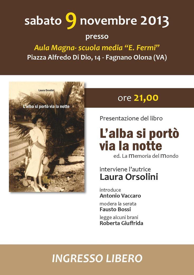 presentazione sabato 9 novembre a Fagnano Olona