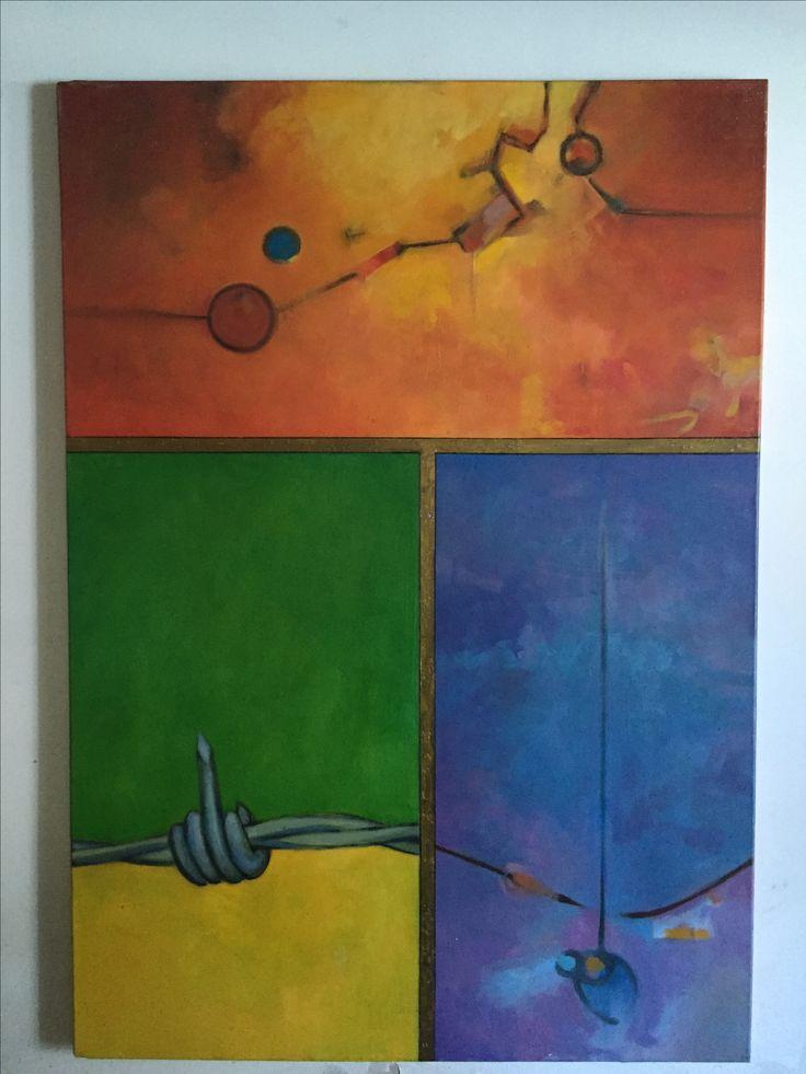 Frontera oleo sobre lienzo 140*160 cms