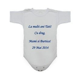 Body bebelusi personalizat prin broderie text gratuita