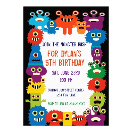 78 best Cute Monster Birthday Party Invitations images on Pinterest
