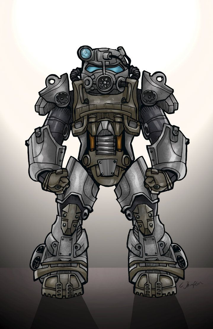 FALLOUT 4 POWER ARMOR by CThompsonArt