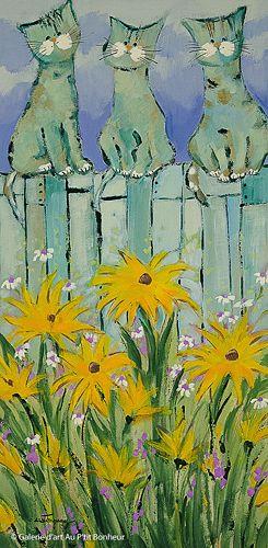 Claudette Castonguay, 'La belle vie...', 10'' x 20'' | Galerie d'art - Au P'tit Bonheur - Art Gallery