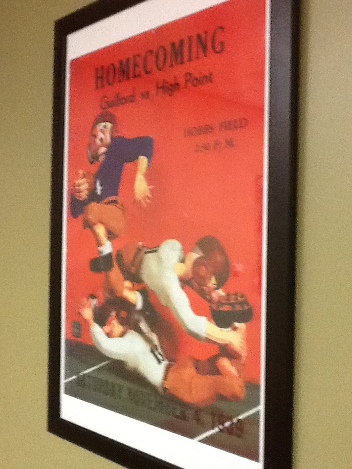 Teen Webcam Vintage football poster finding, and
