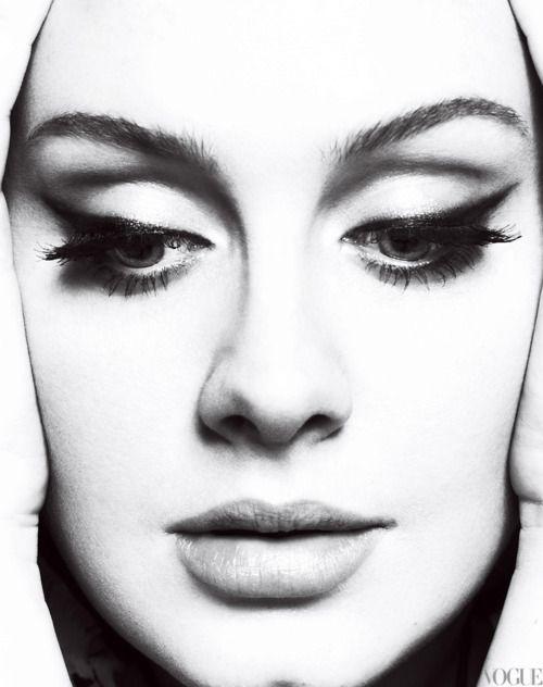 Adele in vogue: Vogue, Music, Face, Cat Eye, Makeup, Beautiful, Beauty, Photo, Adele