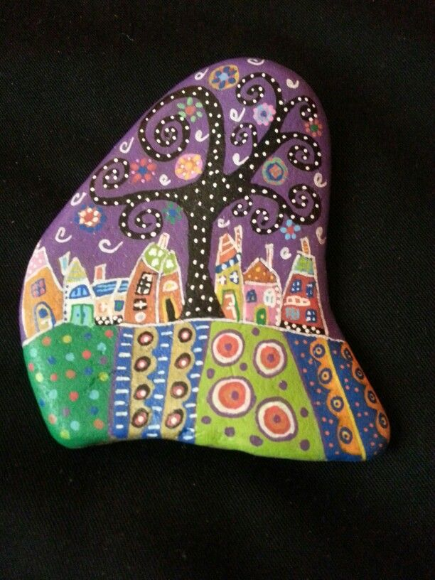 #stone#painting#houses