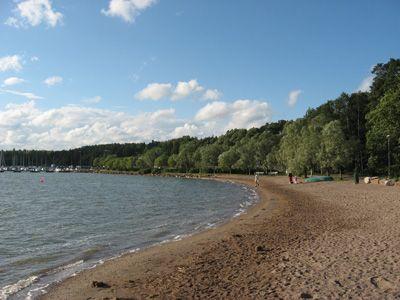 The beach of Kivenlahti (Espoo, Finland).