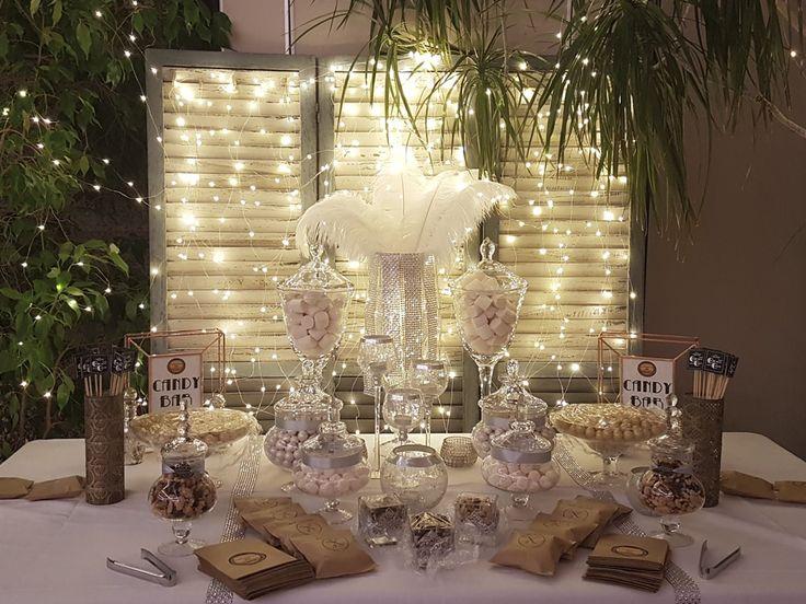 CANDY BAR GATSBY   La elegancia de los años 20 y el más puro estilo Gatsby para dar el toque dulce en vuestra boda. Brillo y glamour para una boda única.   Ven a vernos y cuéntanos tus ideas