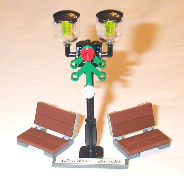 Lego Street Lamp Post Park Benches 10222 Garden Seat