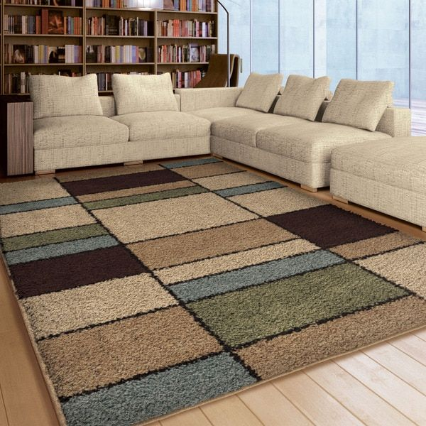 Carolina Weavers Comfy And Cozy Riveting Shag Collection Seaton Multi Area Rug 53 X 76 By Living Room RugsDining