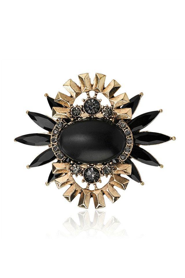 Samantha Wills Awake In The Dark Ring - Black AUD$120.00 available at www.carouselbondi...