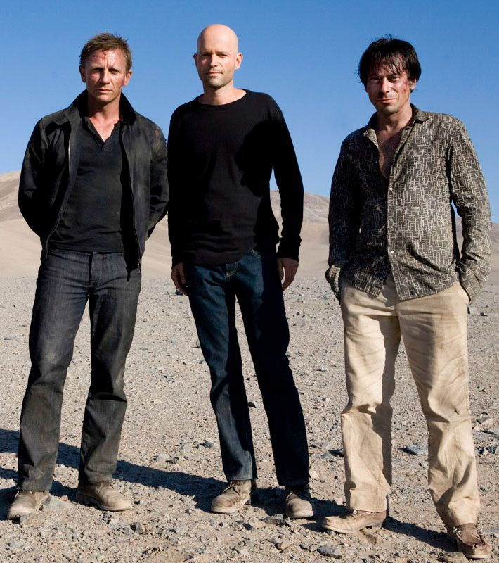 "filmhall: "" Daniel Craig, Marc Forster & Mathieu Amalric on the set of Quantum of Solace """