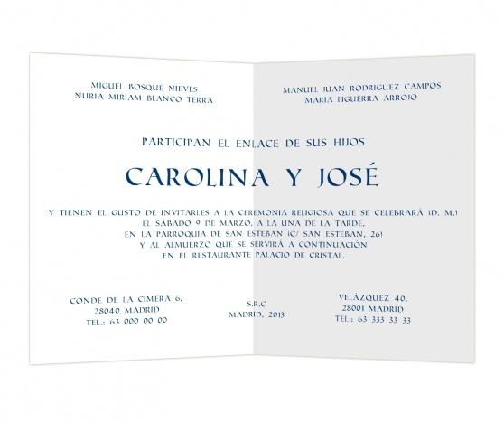 Azul intenso #invitaciones #boda