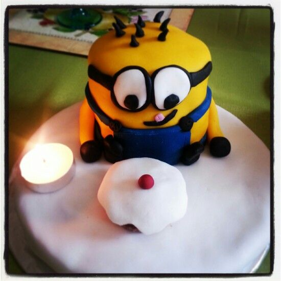 Minion cake for my sister!